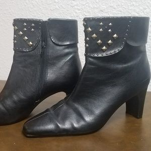 Shoes - Black Studded Booties